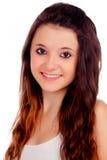 Естественная предназначенная для подростков девушка с медными волосами стоковые фотографии rf