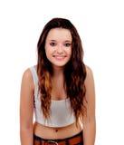 Естественная предназначенная для подростков девушка с медными волосами стоковое изображение rf