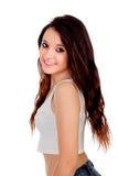 Естественная предназначенная для подростков девушка с медными волосами стоковая фотография rf