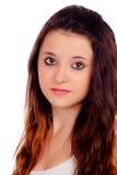 Естественная предназначенная для подростков девушка с медными волосами стоковые изображения rf