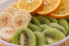 Естественная предпосылка от частей плодоовощ Стоковая Фотография
