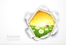 Естественная предпосылка с цветками Стоковые Изображения