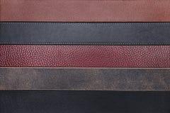 Естественная предпосылка текстуры конца-вверх кожаных поясов Стоковая Фотография RF