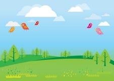 Естественная предпосылка для вектора детей бесплатная иллюстрация