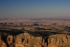 Естественная равнина в гранд-каньоне Стоковые Изображения