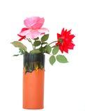 естественная розовая ваза стоковые изображения
