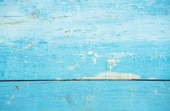 Естественная старая деревянная голубая текстура Стоковые Изображения