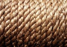 Естественная текстура веревочки Стоковое Изображение