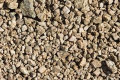 естественная текстура Крупный план гравия Стоковое Изображение RF