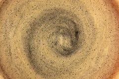 Естественная текстура пены черного кофе Стоковые Изображения RF