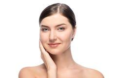 Естественная isolaed красота молодой женщины, Стоковое Изображение RF