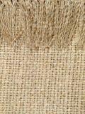 Естественная linen картина текстуры с краем Справочная информация Стоковые Фотографии RF