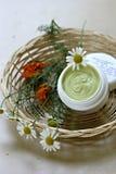 Естественная moisturizing сливк стороны Стоковые Изображения