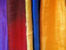 Естественная silk деталь шарфов Стоковая Фотография