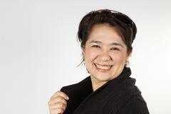 естественная smily женщина Стоковые Фото
