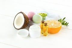 Естественное кокосовое масло Стоковое Изображение RF