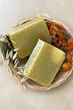естественное мыло с травами Стоковое Изображение