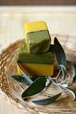 естественное мыло части Стоковые Фото