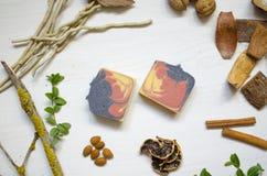 Естественное органическое мыло Экологические косметики Забота тела Eco Стоковые Изображения RF