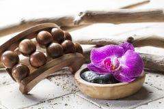 Естественное оформление для массажа и внутреннего подмолаживания красоты Стоковая Фотография RF