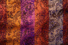 естественное цветастой ткани предпосылки флористическое Стоковые Фотографии RF