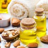 Естественное эфирное масло сладостной миндалины для красоты и курорта Стоковые Изображения RF