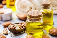 Естественное эфирное масло сладостной миндалины для красоты и курорта Стоковая Фотография