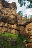 Естественное явление выветренной скалы, штендеров почвы, утеса изваянного водой, ветром на миллион лет Стоковое Изображение
