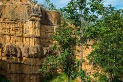 Естественное явление выветренной скалы, штендеров почвы, утеса изваянного водой, ветром на миллион лет Стоковые Фотографии RF