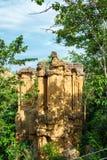 Естественное явление выветренной скалы, штендеров почвы, утеса изваянного водой, ветром на миллион лет Стоковые Фото