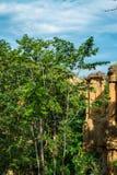 Естественное явление выветренной скалы, штендеров почвы, утеса изваянного водой, ветром на миллион лет Стоковые Изображения