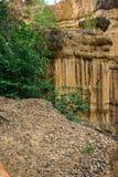 Естественное явление выветренной скалы, штендеров почвы, утеса изваянного водой, ветром на миллион лет Стоковое фото RF