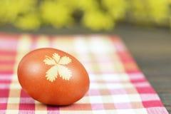 Естественно покрашенное пасхальное яйцо стоковые фотографии rf