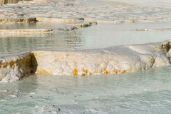 Естественные бассейны травертина и террасы, Pamukkale Стоковая Фотография