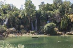 Естественные водопады Kravice о'кей parkland в Босния и Герцеговина Стоковые Изображения RF
