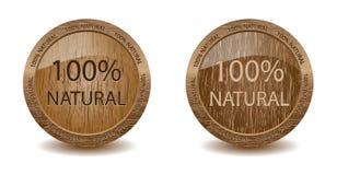 Естественные деревянные кнопки Стоковое Изображение RF