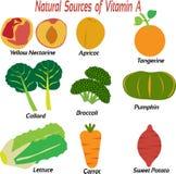 Естественные источники Витамина A для человеческого тела стоковое изображение