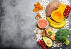 Естественные источники еды калия стоковые изображения rf