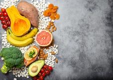 Естественные источники еды калия стоковое изображение