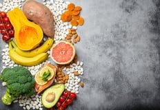 Естественные источники еды калия стоковая фотография rf