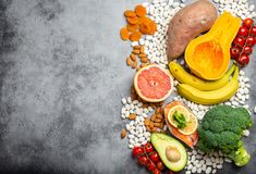 Естественные источники еды калия стоковая фотография