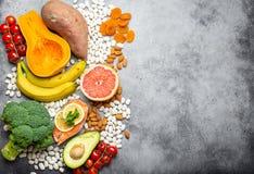 Естественные источники еды калия стоковые фото
