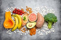 Естественные источники еды калия стоковое изображение rf