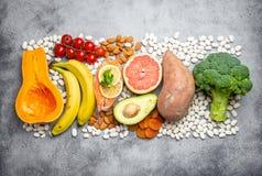 Естественные источники еды калия стоковое фото