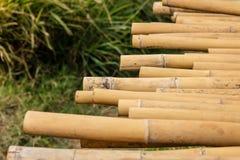 Естественные коричневые стога бамбука Стоковые Фото