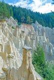 Естественные пирамиды земли Стоковое фото RF