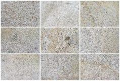 Естественные предпосылка или текстуры известняка 9 Стоковые Изображения