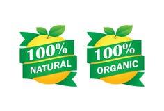Естественные 100 процентов Стоковое Изображение RF