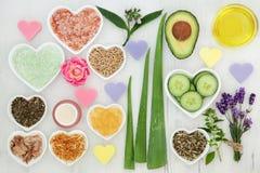 Естественные продукты заботы тела Стоковая Фотография RF