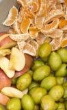 Естественные свежие плоды смешивания стоковое изображение rf